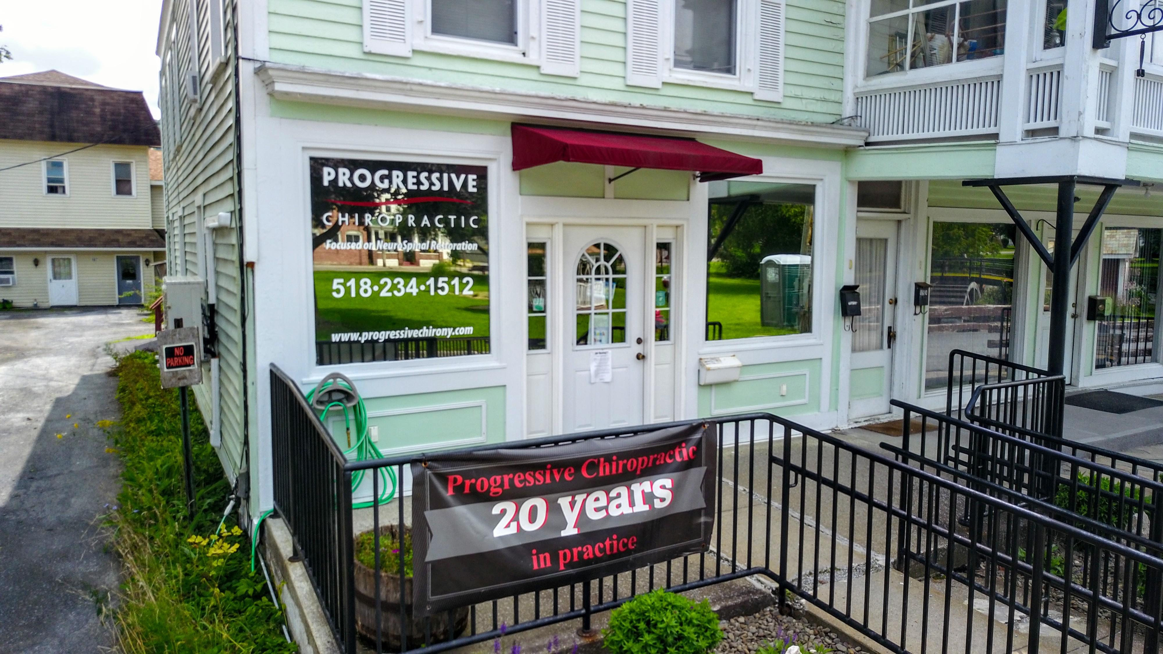 Progressive Chiropractic storefront in Cobleskill