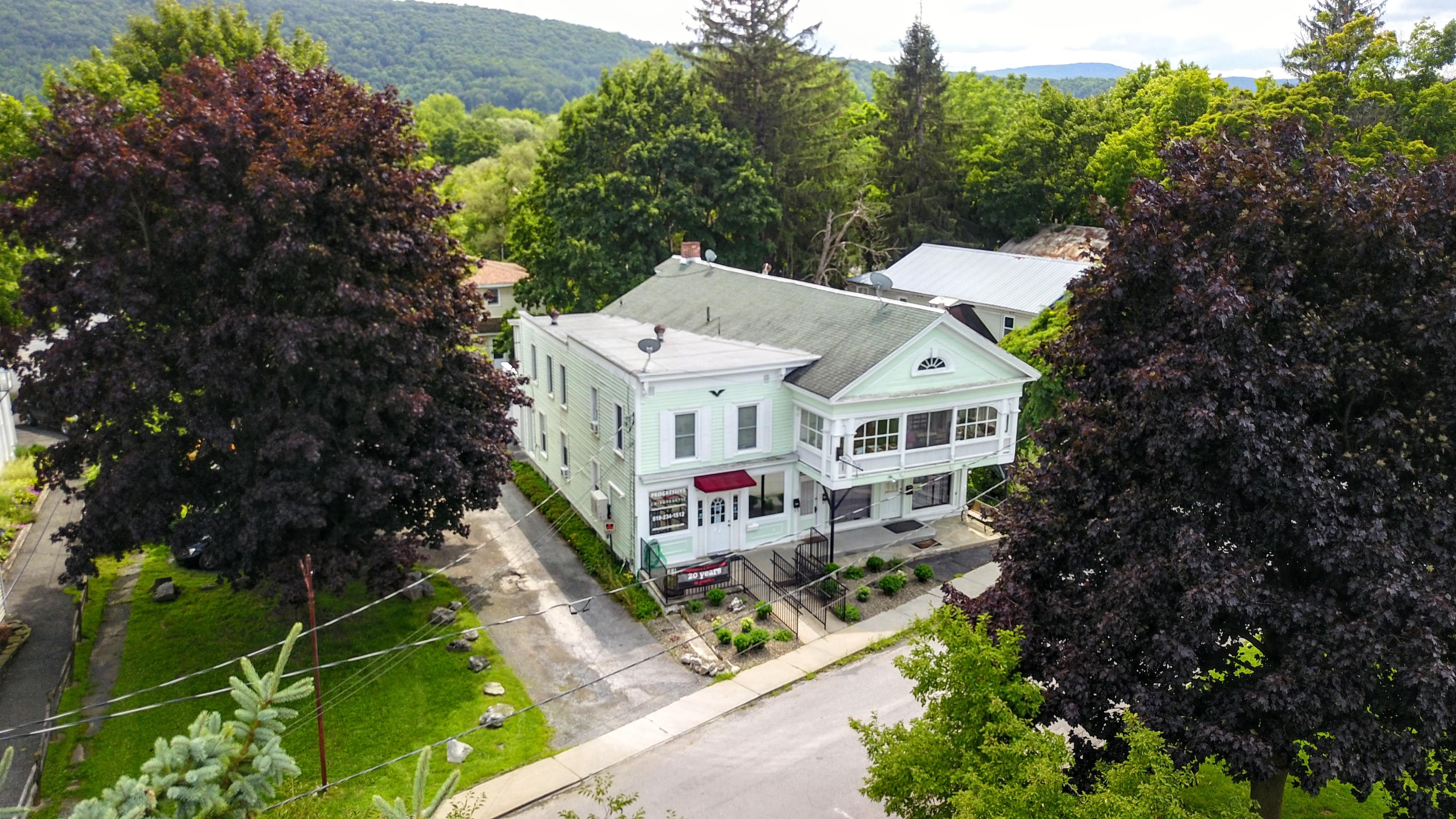 Cobleskill chiropractors aerial shot of office
