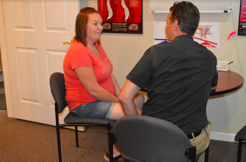chiropractic patient seen for first consult